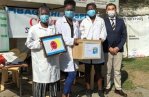 Shinnyo-en in Kenya delivers over one-thousand face shields to medical personal in COVID-19 relief effort
