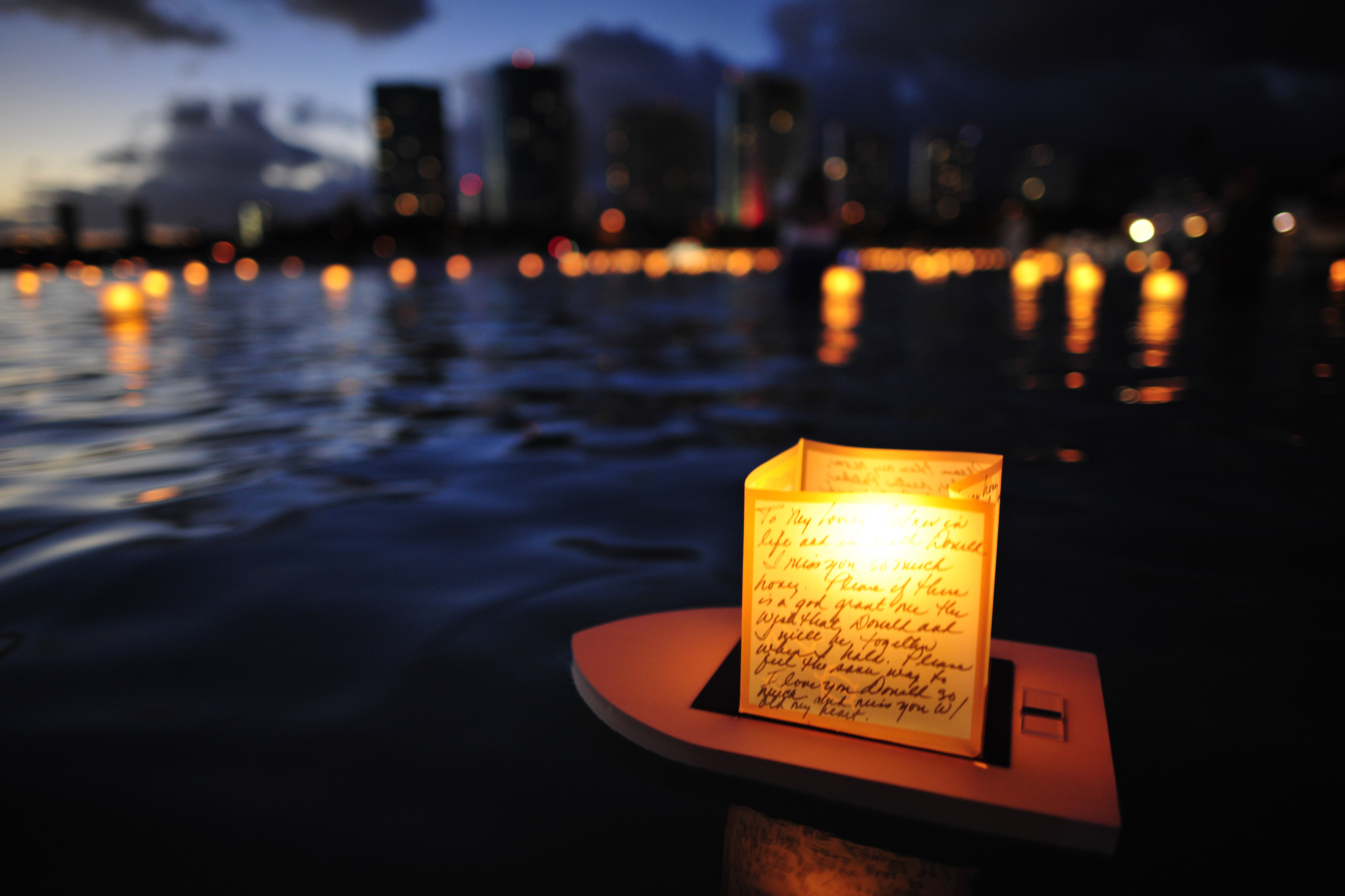 17th Annual Lantern Floating Hawaii Ceremony is the Largest